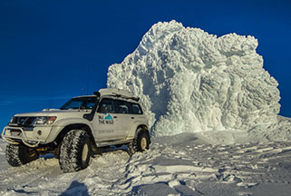 Super Jeep on Eyjafjallajokull